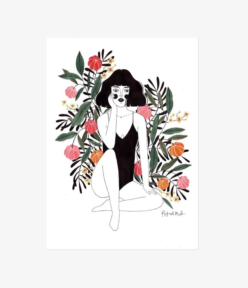figuras femininas e natureza